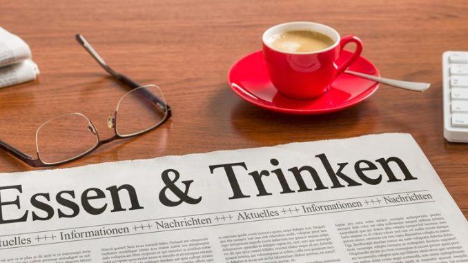 Zeitung zum Thema Essen und Trinken